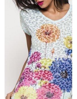 Flowers t-shirt -V neck
