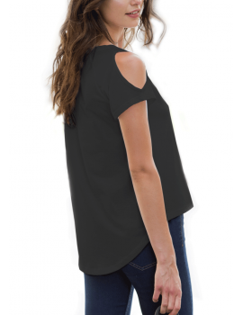 Cut Out Shoulder tee shirt