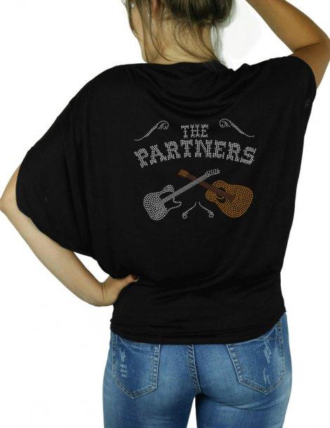 The Partners- T-shirt femme Manches Chauve Souris