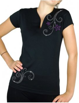 Spirals & flowers- lady tee shirt