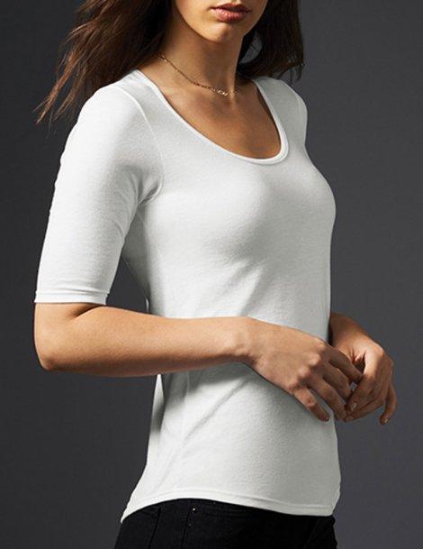 Mi manches tee shirt femme