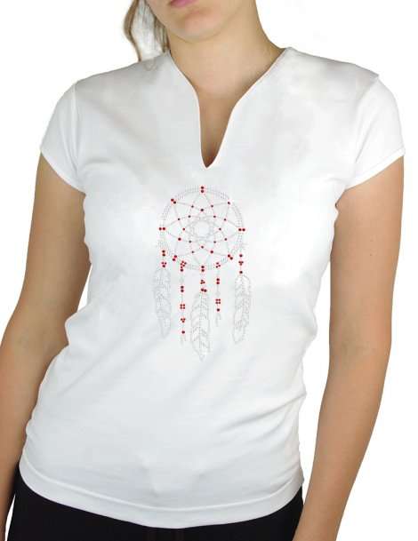 Dream catcher - T-shirt femme Col V