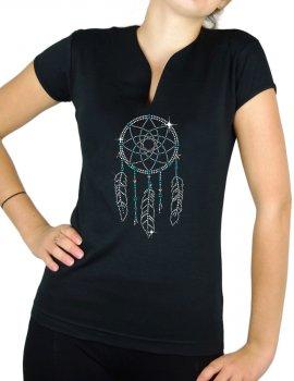 Attrape Rêve - T-shirt femme Col V