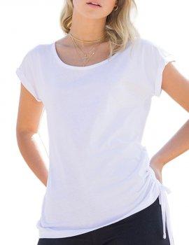 T-Shirt top lacet cote