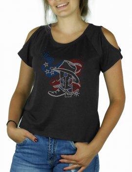 American Bott - Shoulder cut tee shirt