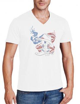 American boot - Man tee shirt V neck