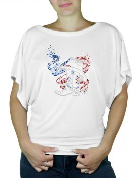 American Boot - T-shirt femme Manches Papillon