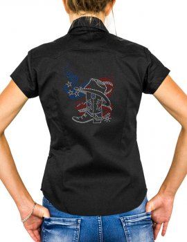 American boot - western country shirt