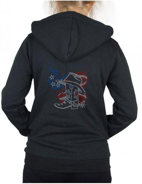 American boot - Hooded women's jacket