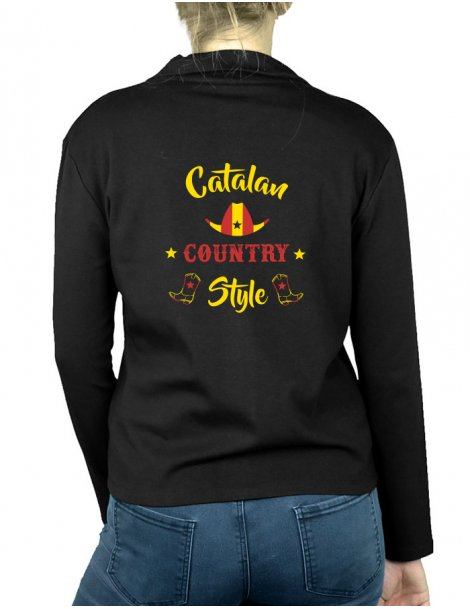 Catalan country style - Gilet femme Sans Capuche