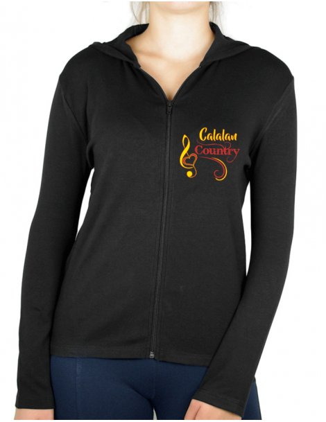 Catalan Country style - Women's light jacket hooded