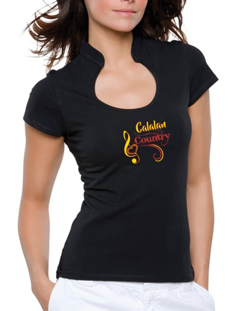 Catalan country - T-shirt femme Col Omega