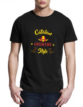 Catalan country style- Man tee shirt round neck