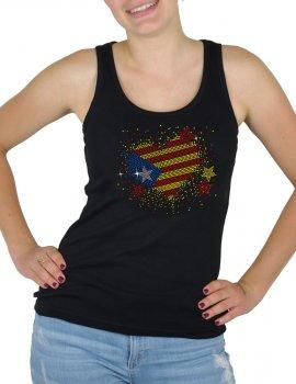 Catalan Rhinestone Heart - Lady Tank top