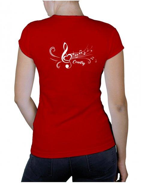 Heart treble clef- Lady V neck