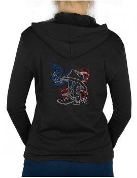 American Boot - Gilet femme à Capuche