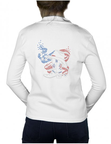 logo strass motif americain