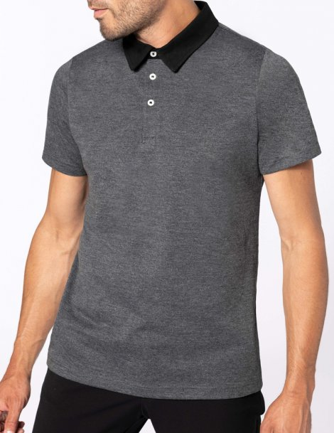 Men's bi-color jersey polo shirt