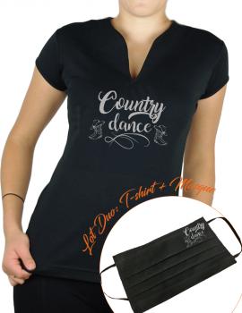 COUNTRY DANCE - T-shirt femme Col V