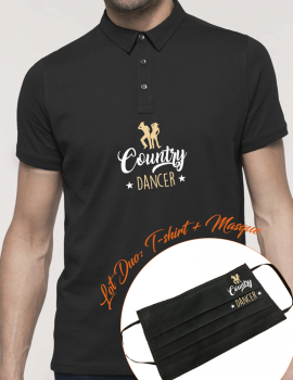 Country dancer-LOT DUO Polo homme et masque assorti