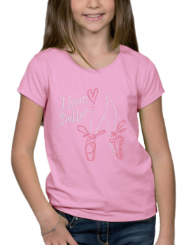 I love Ballet - T-shirt Fillette