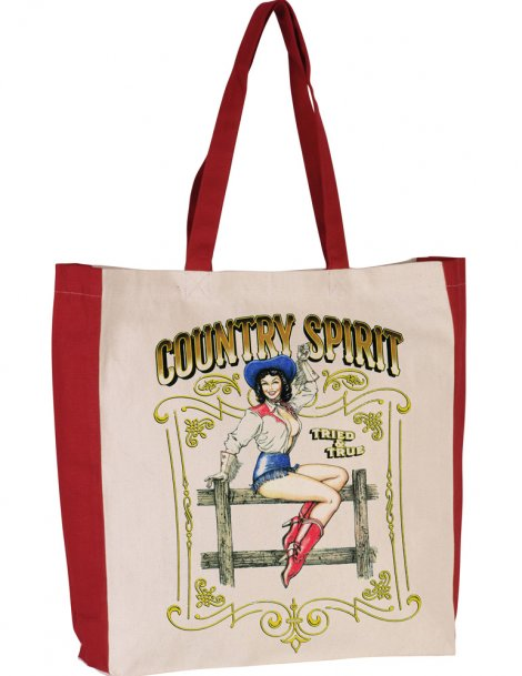 Country spirit two-tone tote bag