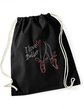 Canvas backpack - I love ballet