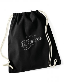 Canvas backpack - I am a dancer