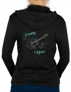Guitare Arabesques - Gilet femme à Capuche