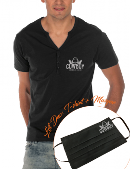 COWBOY -LOT DUO Tunisian t-shirt and matching mask