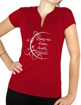 Laissez-moi chanter, danser - T-shirt femme Col V