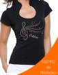 T-shirt femme Col Omega