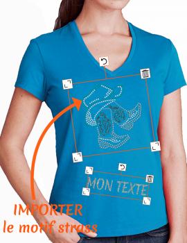 T-shirt femme V librairie