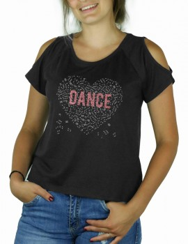 Music heart with DANCE- Shoulder cut