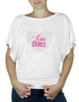 Coeur de musique LINE Dance - T-shirt femme Manches Papillon