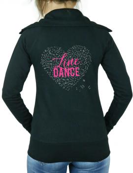 Coeur de musique line dance - Veste femme col montant