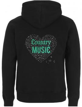 Coeur de musique COUNTRY - Veste à capuche Homme