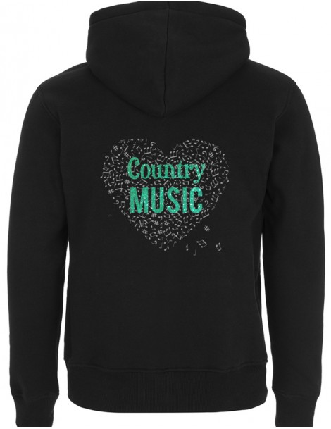 COUNTRY MUSIC heart - Man zip-up hoody