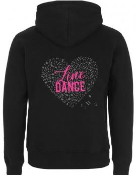 Line dance heart - Man zip-up hoody