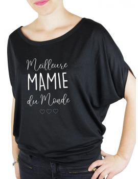 La meilleur des mamies - T-shirt femme Manches Chauve Souris