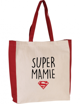 SUPER MAMIE two-tone tote bag