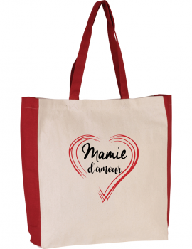 Grand ma LOve - two tone tote bag