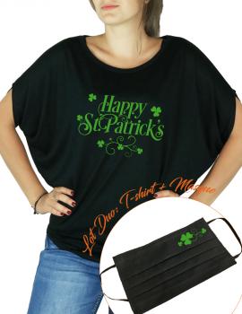 Happy st Patrick - LOT DUO Tee shirt Chauve souris et masque