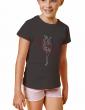 "Motif strass Gymnastique rythmique ""ruban"" - T-shirt Fillette"