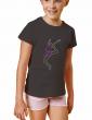 """Rhinestone motif Rhythmic gymnastics """"clubs"""" - Girl's T-shirt"""