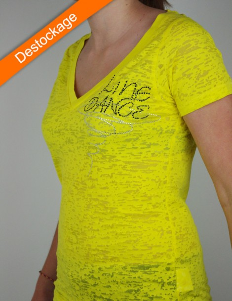 Line dance spiral - burn out jaune