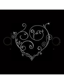 Coeur arabesques / 17,5 cm X 19 cm