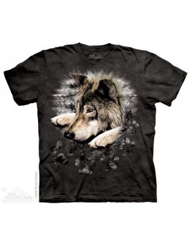 Wolf In Dye Paw - T-shirt loup - The Mountain