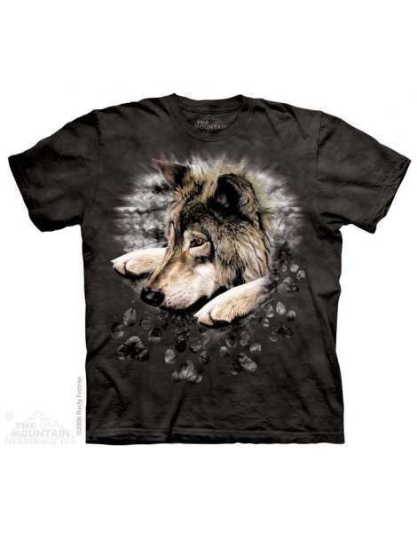 Wolf in dye paw - wolf tee shirt -The mountain