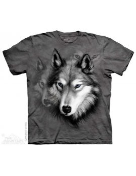 Wolf Portrait - T-shirt loup - The Mountain